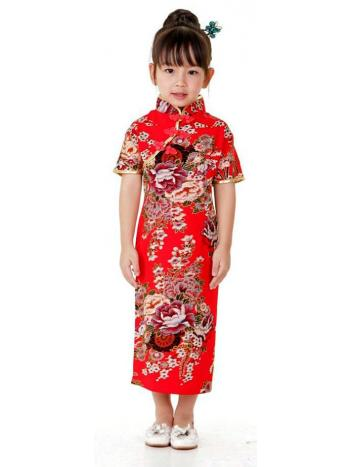 Little Girls Red Qipao