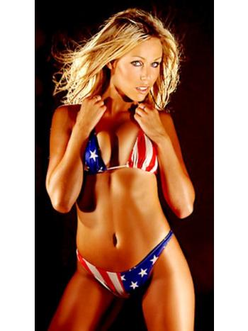 Usa Flag Thong Bikini Set