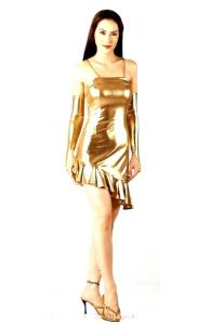 Sexy Gold Cocktail Dress