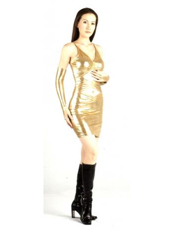 Short Metallic Homecoming Dress