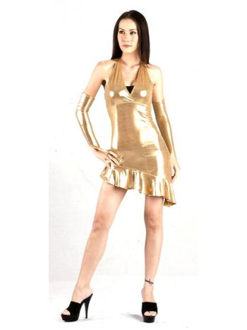 Gold Glamour Club Dress