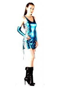 Blue Metallic Club Dress