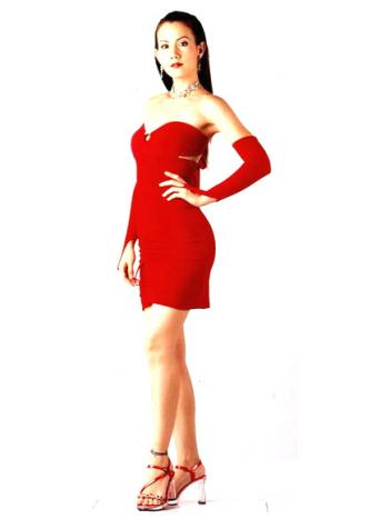 Red Hot Strapless Dress