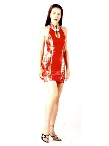 Red Asian Mini Dress