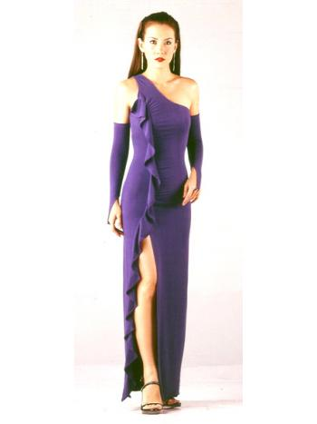 Purple One Shoulder Dress