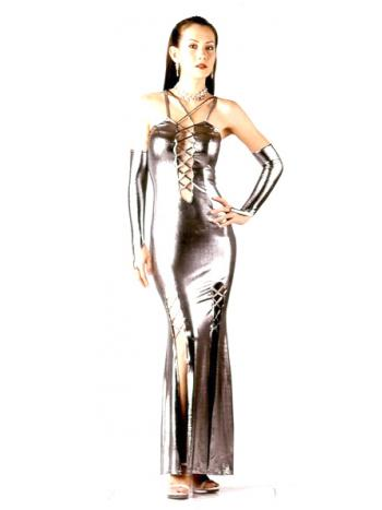 Silver Sleek Form Fitting Dress