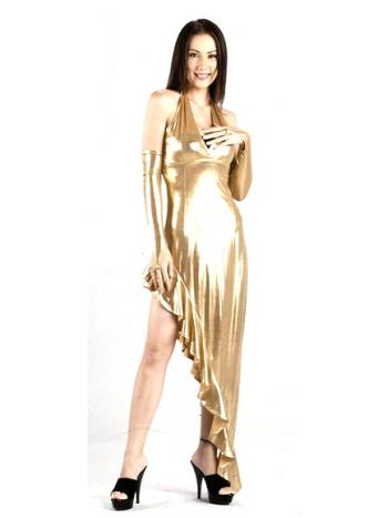 a16f567206 Sexy Gold Metallic Long Dress - Dance Dresses - Neve Bianca