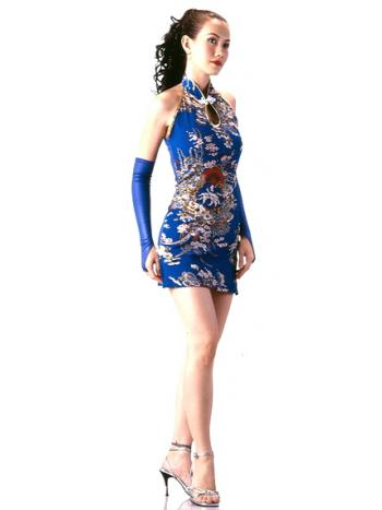 Sexy Short Blue Cheongsam
