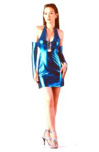 Blue Metallic Dress