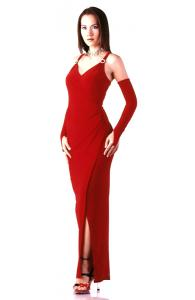 Alluring Red Party Dress