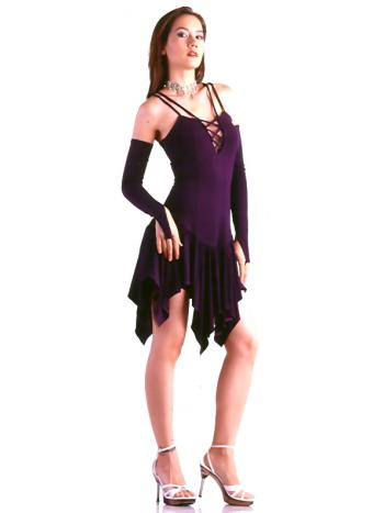 Deep Purple Mini Dress