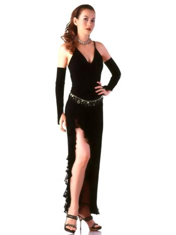 Dramatic Black Evening Dress