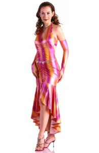 Colorful Print Long Gown