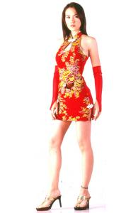 Short Red Cheongsam