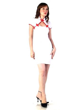 Short White Qipao