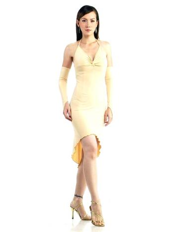 Elegant Short Cream Dress