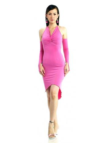 Elegant Short Pink Dress
