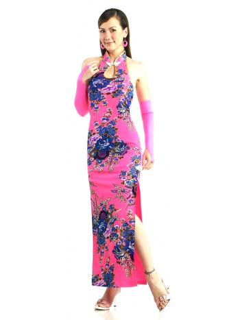 Vibrant Pink Chinese Dress
