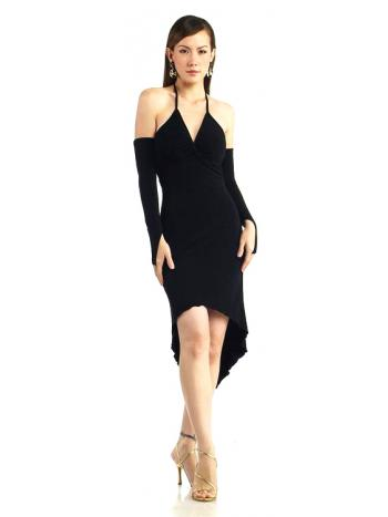 Black Halter Neck Cocktail Dress
