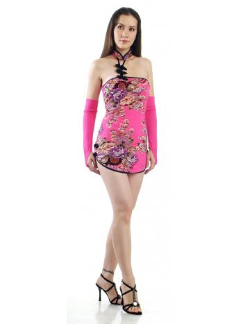 Short Pink China Dress