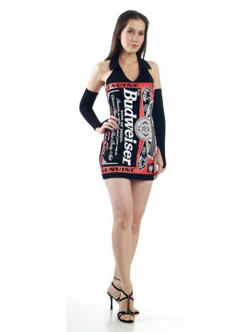 Sexy Black Budweiser Dress