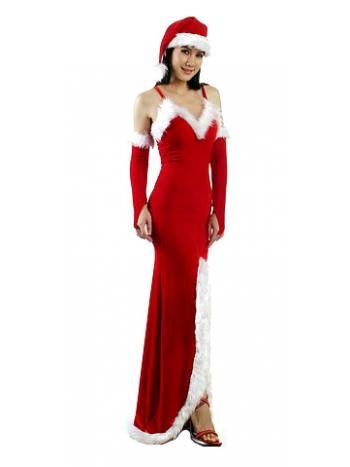 Elegant Long Christmas Dress