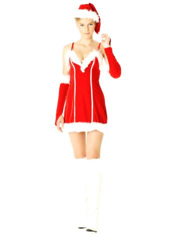 Short Elegant Santa Dress