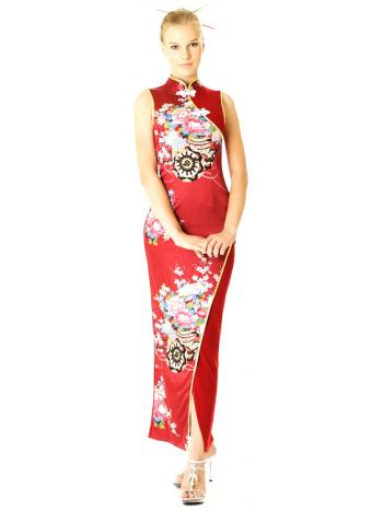 Deep Red Cheongsam