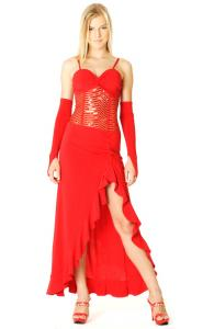 Trendy Red Salsa Dress