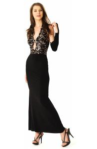 Glamorous Black Evening Gown