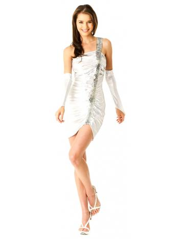 Chic Silver Mini Dress