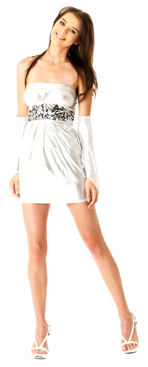 03a5bdf514f Sexy Silver Mini Dress - Short Dresses - Neve Bianca
