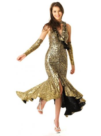 Glamorous Gold Gown