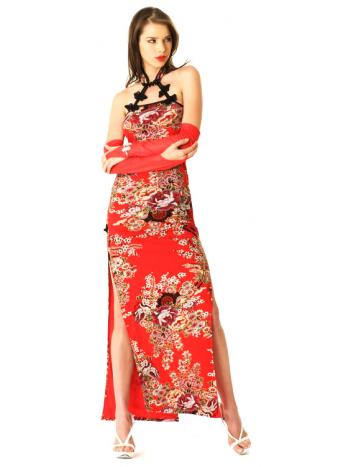 Sexy Red Asian Dress