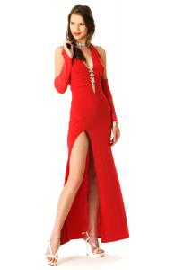 Red Hot Evening Gown