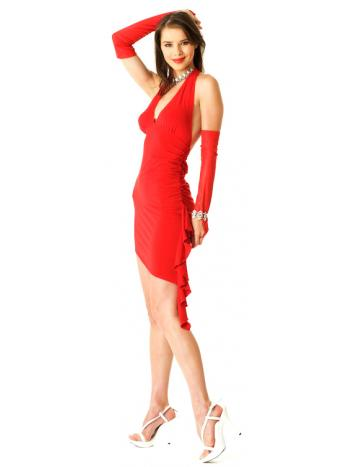 f312ebf20f9 Fiery Red Halter Dress - Short Dresses - Neve Bianca