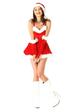 acd1ff22d2ba7 Short Red Santa Dress - Santa Dresses - Neve Bianca