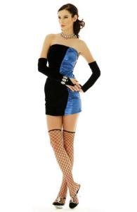 Black and Blue Party Dress