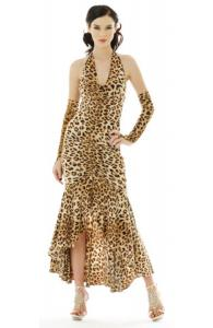 Leopard Print Ruched Stretch Dress