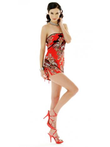 Strapless Chinese Dress