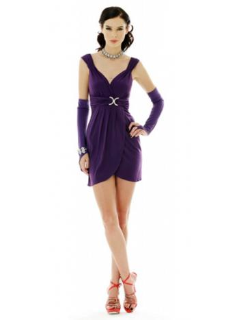 Chic Purple Mini Dress