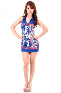 Trendy Budweiser Party Dress