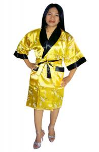 Bright Yellow Silk Robe