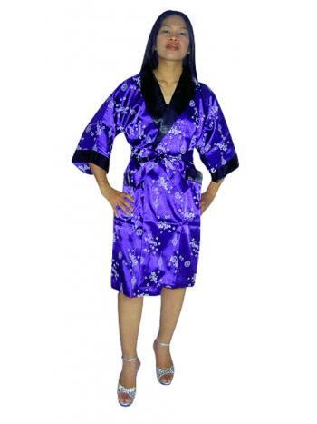Royal Purple Silk Robe