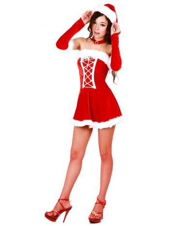 Sexy Lace Up Santa Dress
