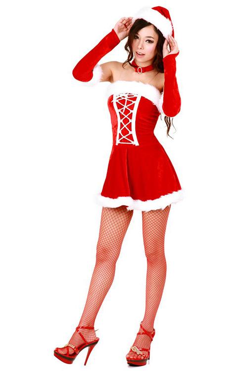 56fc1148c4355 Sexy Lace Santa Dress - Santa Dresses - Neve Bianca