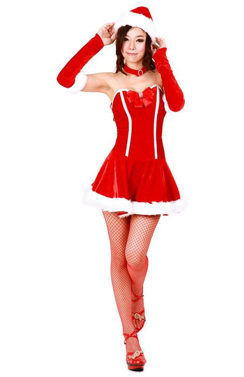 d877d03c0dedf Seductive Santa Dress Costume - Santa Dresses - Neve Bianca