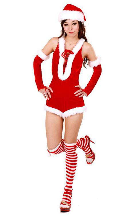 0841c4ebb76ec Gorgeously Sexy Santa Uniform - Santa Dresses - Neve Bianca