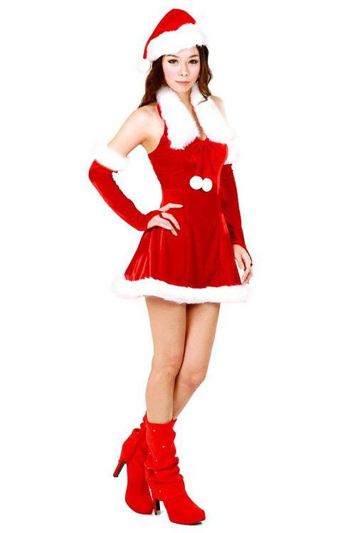 Cute Santa Girl Costume  sc 1 st  Neve Bianca & Cute Santa Girl Costume - Santa Dresses - Neve Bianca