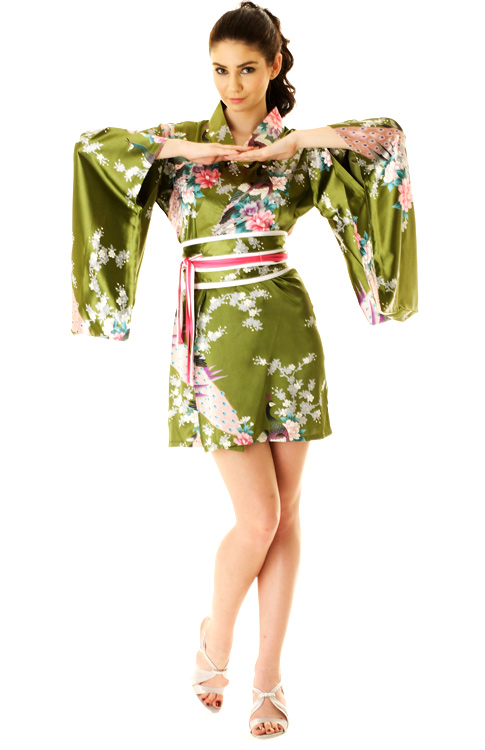 Believe In Magic Kimono - Green This kimono features bat wing sleeves and self tie details around the waist line. Sheer. Ashley is wearing a small/medium and these fit true to size. % Polyester. Hand Wash. Measurements: Length: S/M- 49